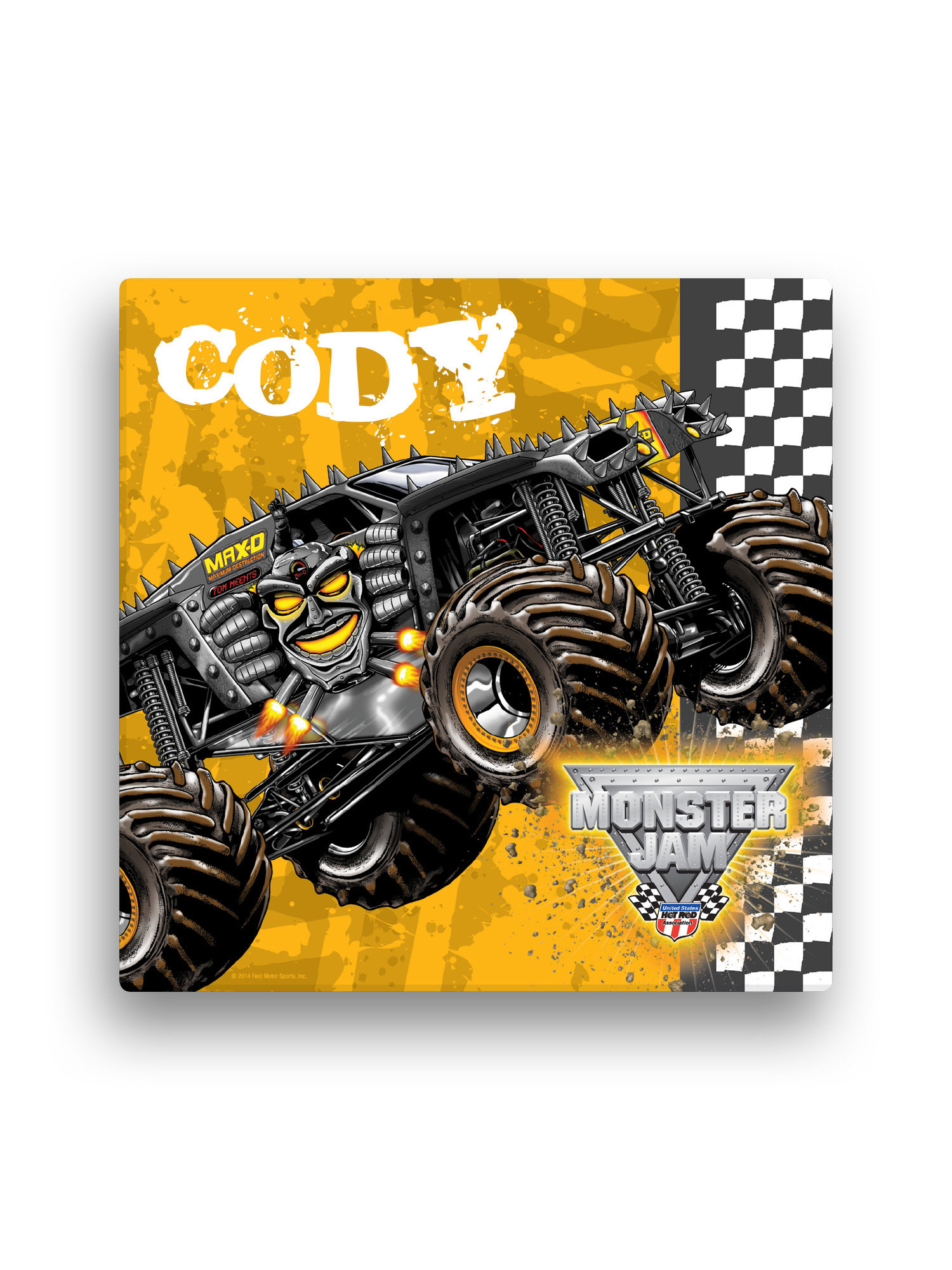 Personalized Monster Jam Max D Canvas Wall Art, 16\
