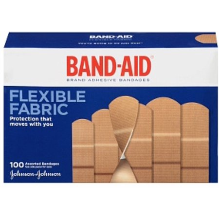 (BAND-AID Flexible Fabric Adhesive Bandages Assorted 100 ea (Pack of 2))