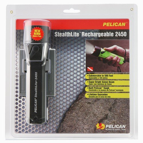 Pelican StealthLite Rechargeable 2450 Flashlight - Xenon Bulb - 2.60 W - AA - ABSBody - Yellow