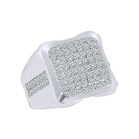 2.13 Carat Round Shape White Natural Diamond Cluster Men