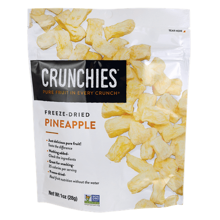 Crunchies Food Company Freeze-Dried Pineapple, 1 (Best Freeze Dried Food Company)