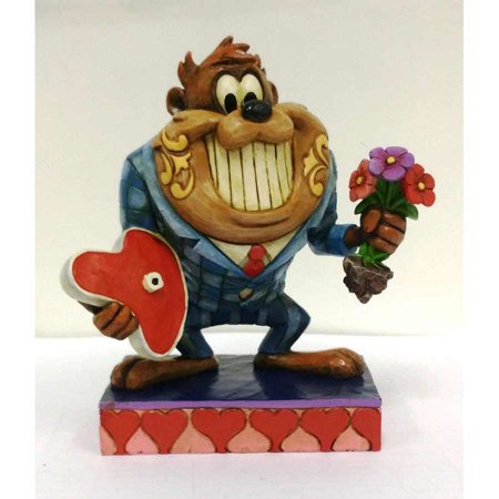 Jim Shore Looney Tunes Valentine Date Night with Taz Resin Figurine New with Box ()