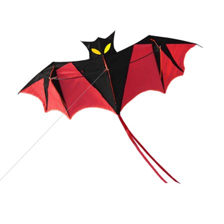 Bats Flying (180cm Red Bat Power Kite with Handle and 30m Single Line Flying Kite for Kids and Adults Outdoor Beach Sports)