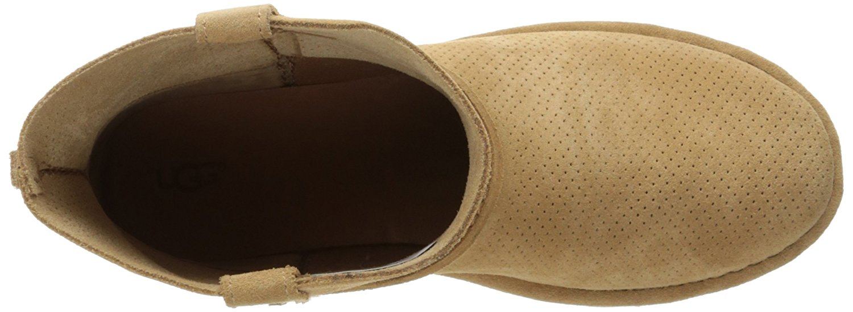 20e9682f389 Ugg Australia Womens Classic Unlined Mini Perforated Leather Closed Toe  Ankle...