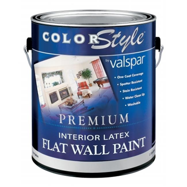 Valspar Brand 1 Gallon White ColorStyle Interior Latex Flat Wall Paint 44-26300 - Pack of 4