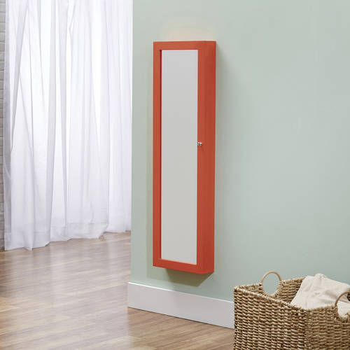 InnerSpace Over-the-Door/Wall-Hang/Mirrored Jewelry Armoire, Multiple Colors