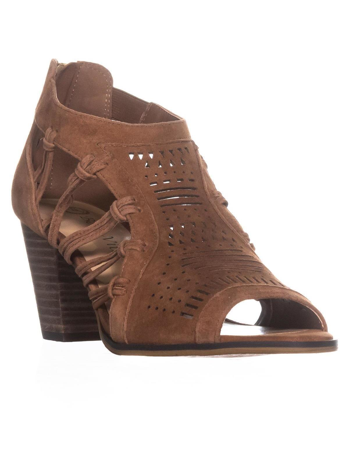 Womens Bella Vita Kortez Zip Up Block Heel Sandals , Dark Tan by Bella Vita