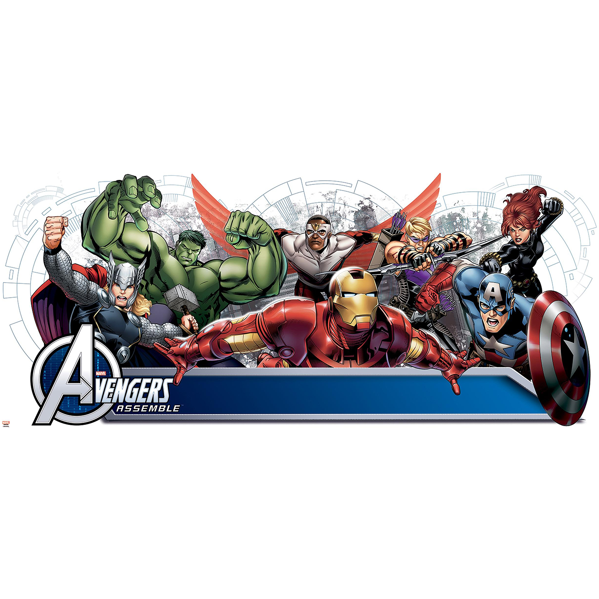 Avengers Assemble Personalization Headboard Peel-and-Stick Wall Decals