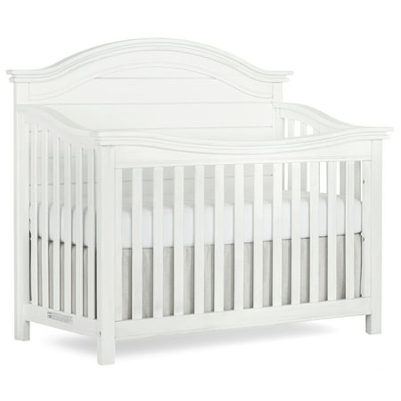 Evolur Belmar Curve 5 in 1 Convertible Crib - Weathered White