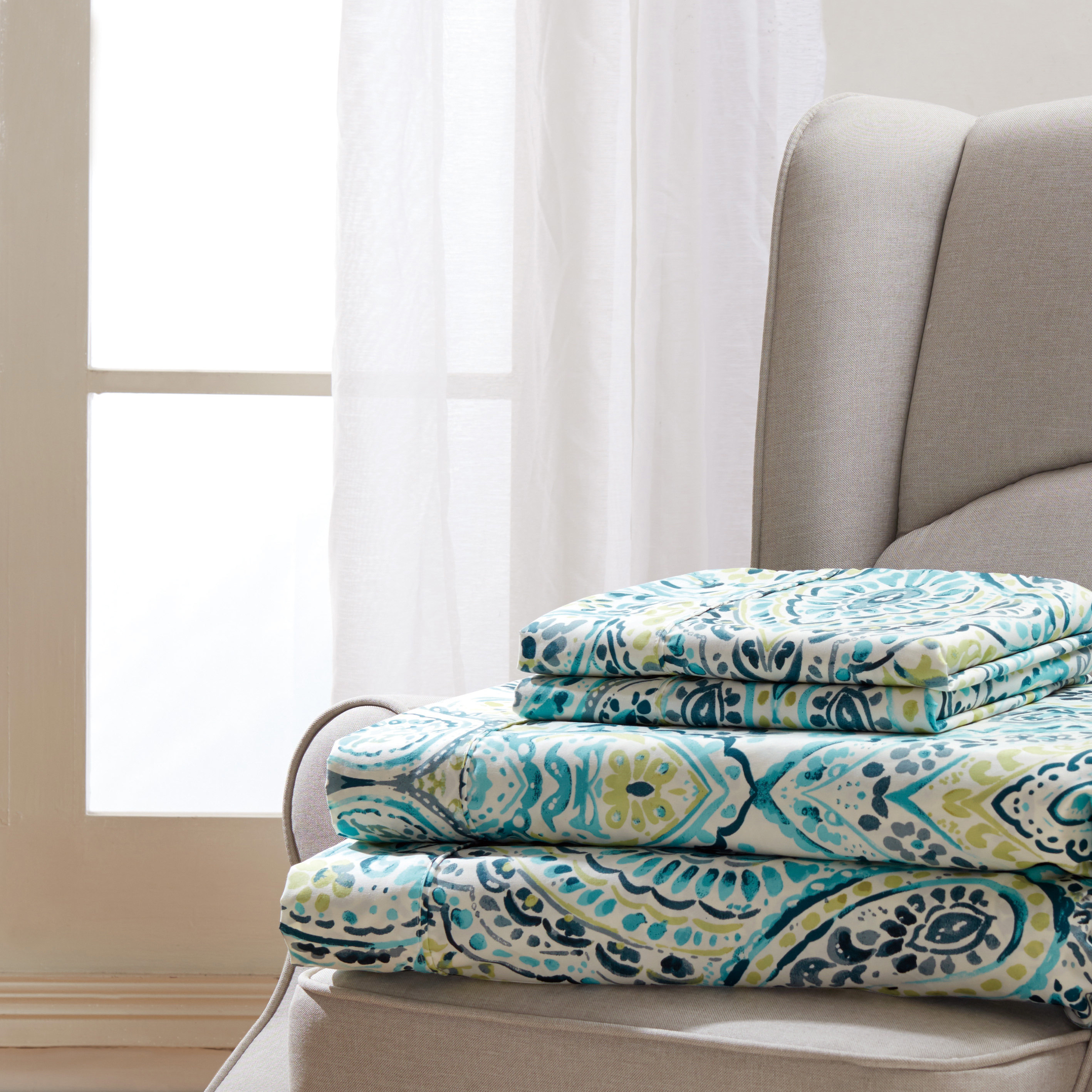 Bliss Printed 3-Piece Sheet Set - Twin