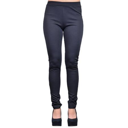 Tresics Brand Black Tuxedo Style Side Leg Panels Leopard Print Leggings - Leopard Leggings