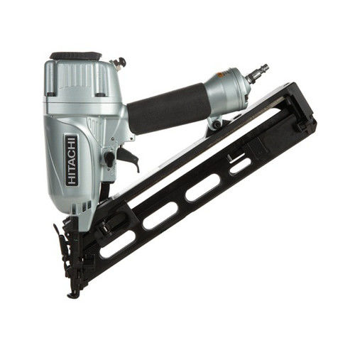 Hitachi NT65MA4 2-1 2 Inch 15 GA Angled Finish Nailer With Air Duster by Hitachi Power Tools