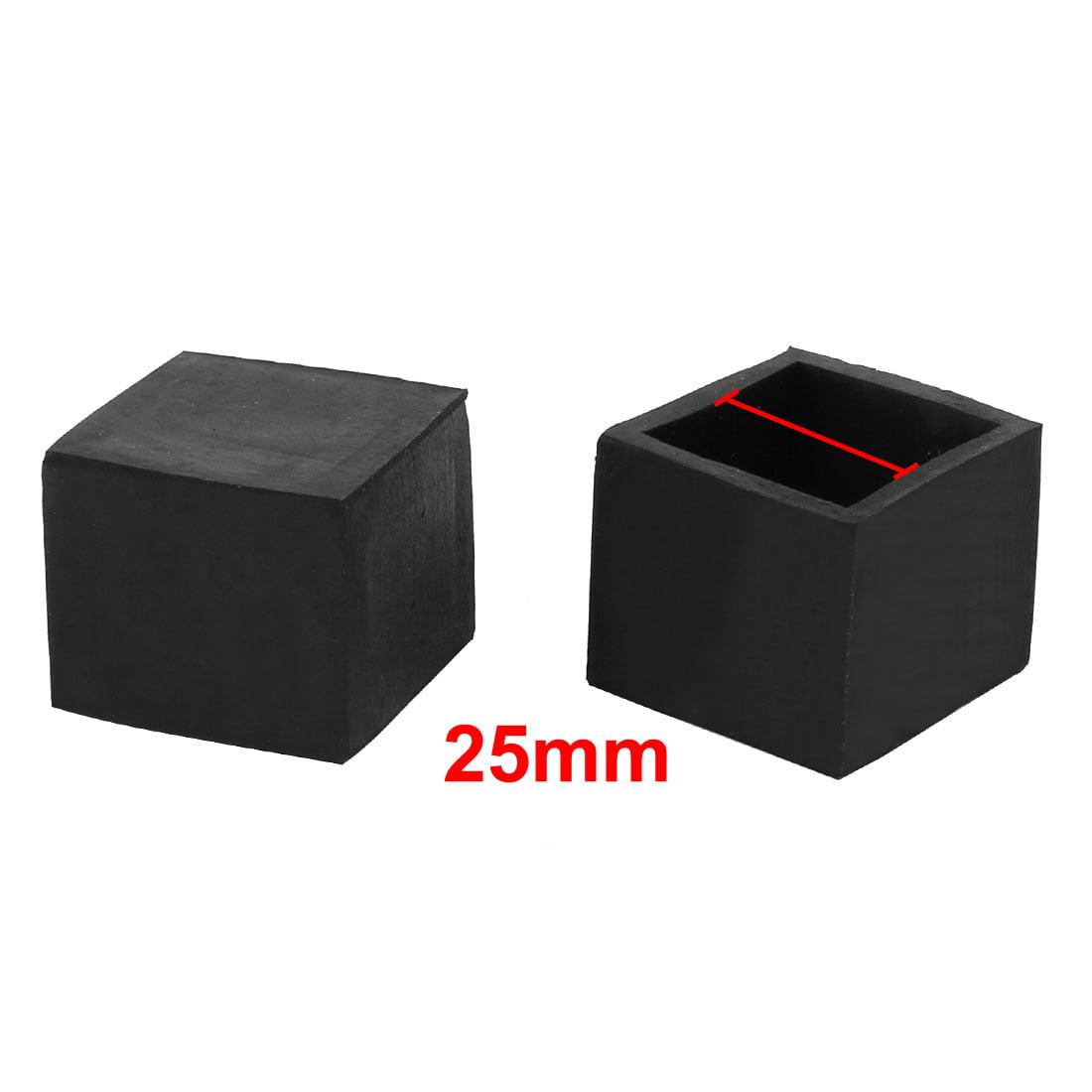 25mmx25mm Square Chair Leg Floor Protectors Table Feet Tips Covers Caps 8pcs - image 2 de 3