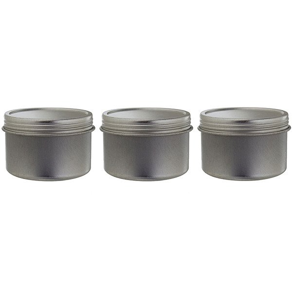 Metal Steel Tin Deep Container with Tight Sealed Twist Screwtop