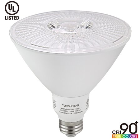 1 Pack Dimmable 13W  Par38 Led Spotlight  Cri90   100W Halogen Replacement Ul Listed Led Bulb  3000K Warm White  1150Lm Wet Location Available  For General Track Recessed Retail Accent Lighting