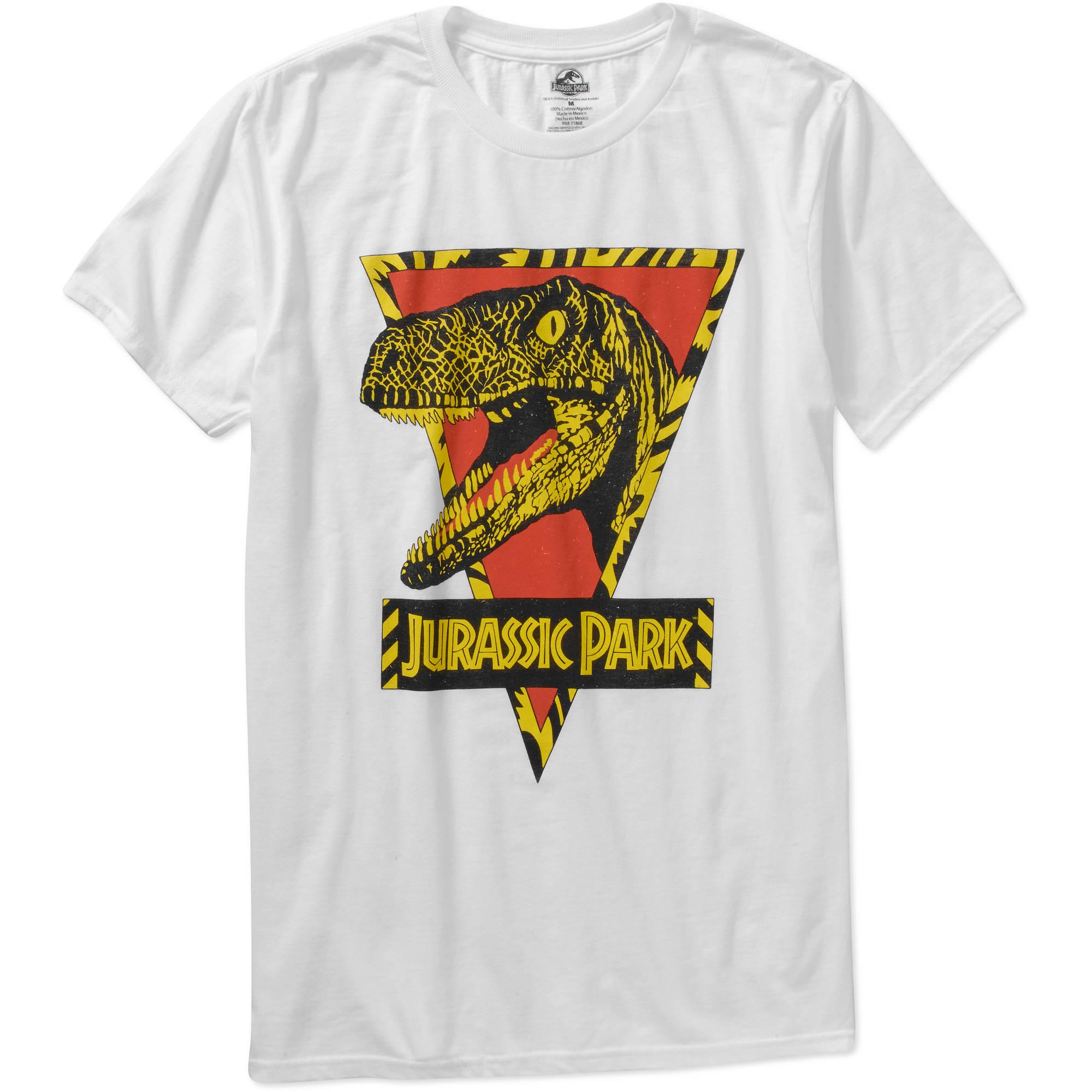 NBC Universal Jurassic Park Retro Logo Big Men's Graphic Short Sleeve T-Shirt