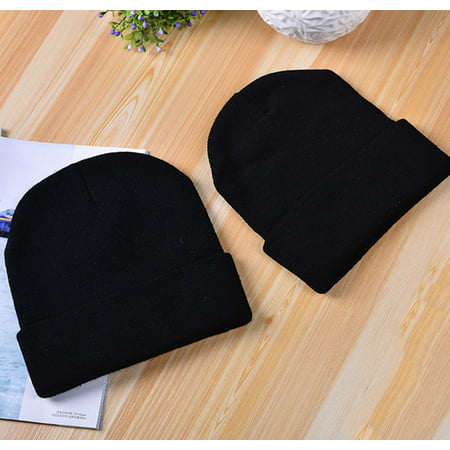 Women's Men's Winter Warm Knit YOU CAN'T SIT WITH US Hip-hop Beanie Hat Black (Black Flame Knit Beanie)