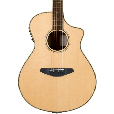 Breedlove Stage Concert Acoustic Electric Guitar with Breedlove Deluxe Foam Shell (Crimson Deluxe Guitar)