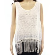 Painted Threads NEW White Ivory Marled Women's Size Small S Knit Top