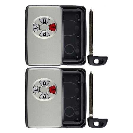 2 PACK KeylessOption Keyless Remote Smart Car Key Fob Case Shell Outer Cover Button Pad Housing HYQ14AAF For Toyota Avalon