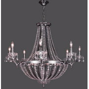 38 in. Terragona Chandelier (Chrome - Crystalique)