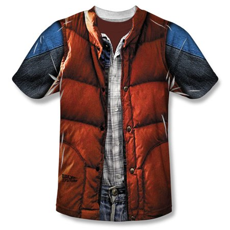 Marty McFly Vest Costume Adult Movie Front Print T-Shirt Tee