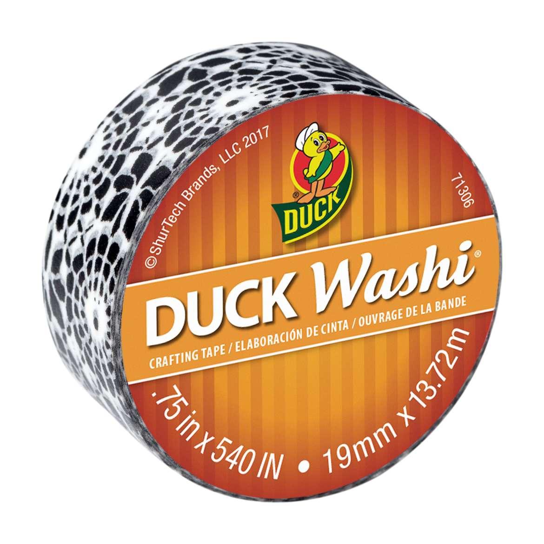 "Duck Brand Washi Crafting Tape, 0.75"" x 15 yards, Black Medallion"