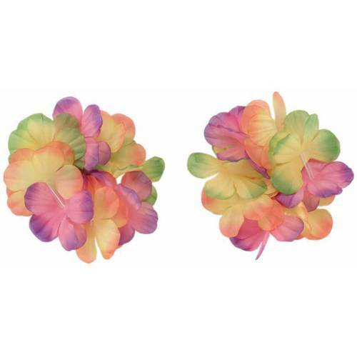 Luau Lei Wrist/Ankle Band 2-Tone Mix, 2-Pack