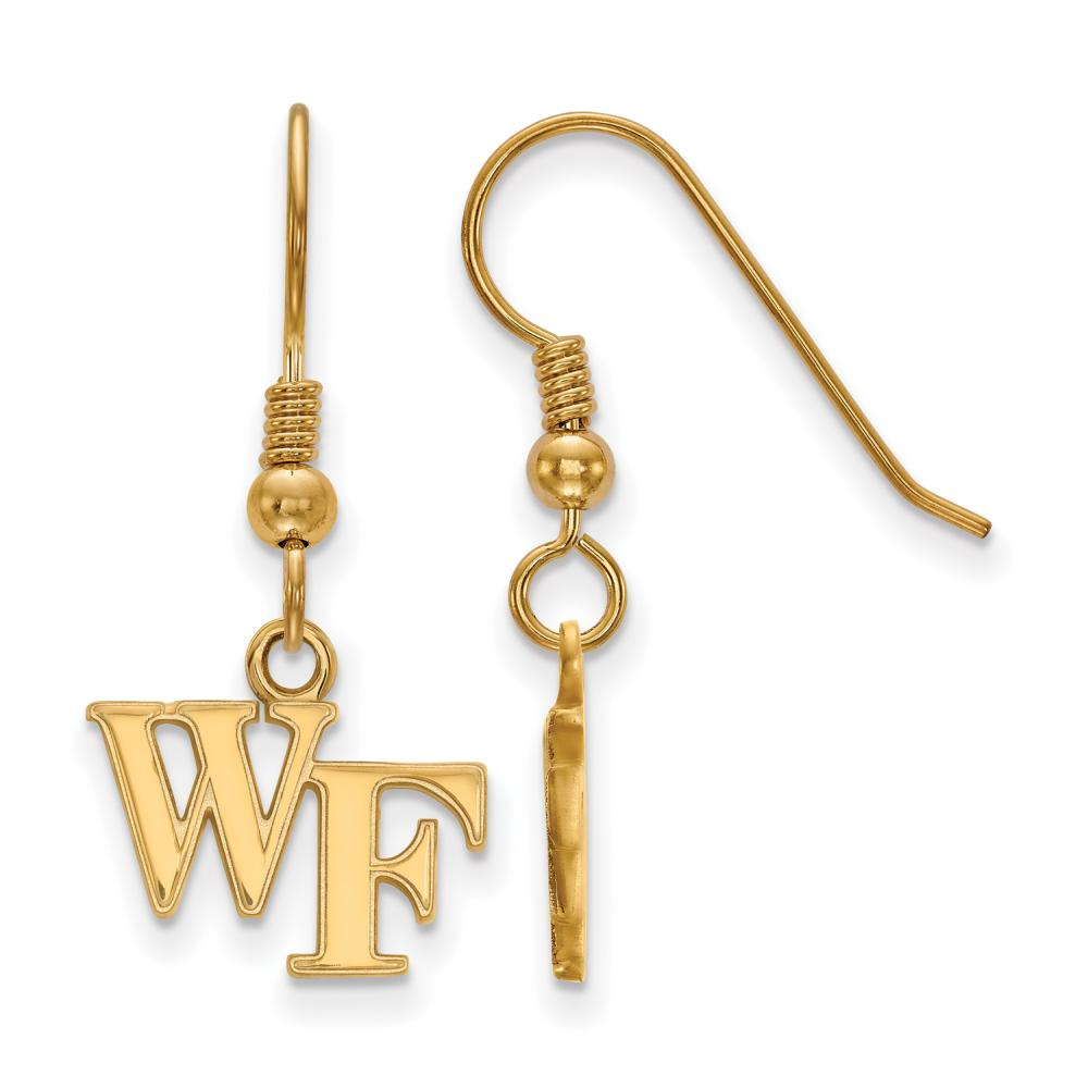 Wake Forest Extra Small (3/8 Inch) Dangle Earrings Wire (Gold Plated)