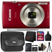 Canon Powershot Ixus 185 / ELPH 180 20MP Compact Digital Camera Red with 64GB Accessory Kit - Best Reviews Guide