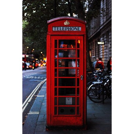 LAMINATED POSTER England Cheshire Telephone Box London British Poster 24x16 Adhesive Decal