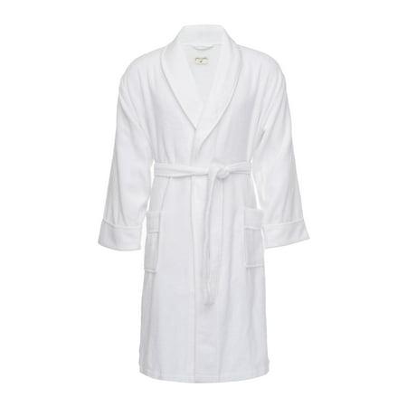 Pure Fiber Men's Kensington Cotton Terry Bath Robe