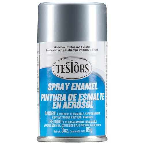 Testors Spray Paint, Silver, 3 oz