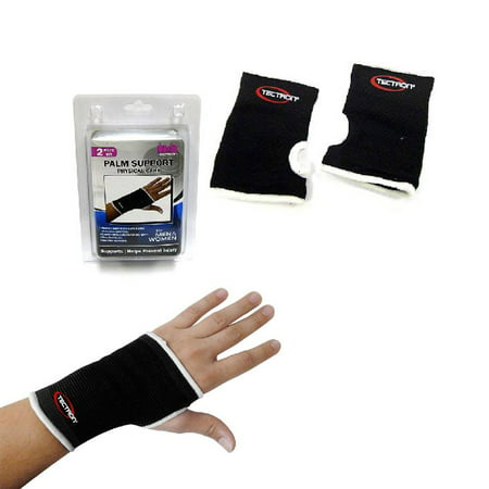 2 Palm Wrist Hand Brace Elastic Support Carpal Tunnel Tendonitis Pain Relief New ()