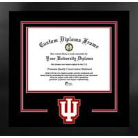 Indiana University Hoosiers 11w x 8.5h Spirit Diploma Nova Black Frame with Bonus Campus Images Lithograph (value savings $59)