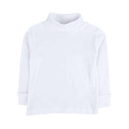 Leveret Solid Turtleneck 100% Cotton (7 Years, White)