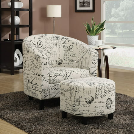 Coaster Company Accent Chair and Ottoman, Off-White ()