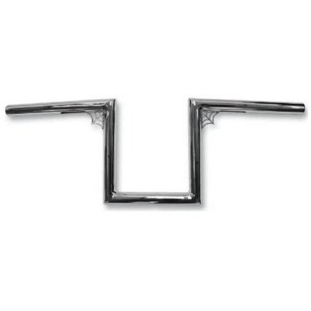 La Choppers 1In  Old School Handlebar   12In  Web Z   Chrome   Color  Chrome  Handle Bar Size  1In  La 7380 W12