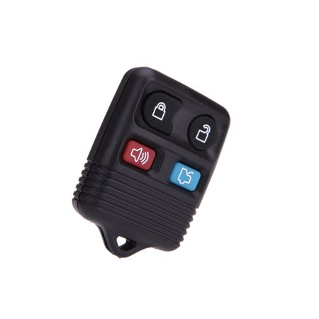 4 Button Remote Key Fob Case Shell Pad Replacement for Ford/Lincoln/Mercury 4 Button Pad