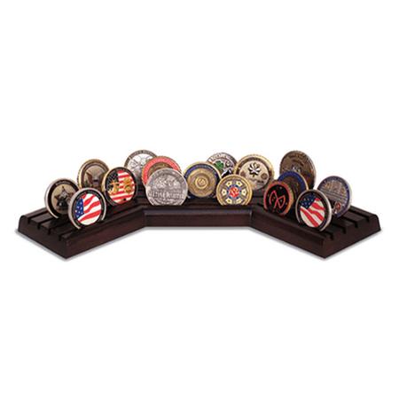 Walnut Stadium Challenge Coin Display Coin Collection Display