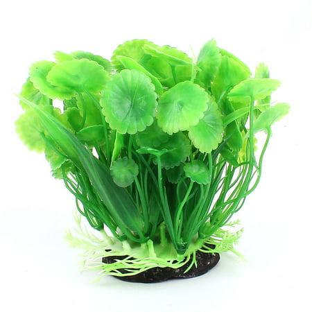 Plastic Leaf Plants Fish Tank Aquarium Decoration Green ()