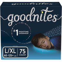 Goodnites Boys Bedtime Bedwetting Underwear, Size L/XL (Choose Count)