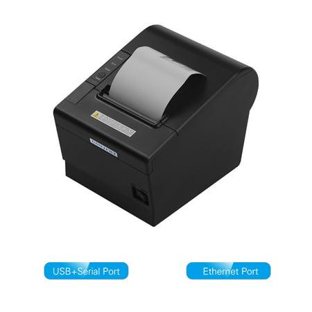 GOOJPRT JP-80DC Desktop Imprimante Themal Papier d?impression thermique 80 mm Fonction de coupe du papier automatique Imprimantes de reçus Interface de communication multiple Port pour alimentation Po - image 1 of 7