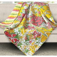French Meadows Flower Quilt Throw Blanket