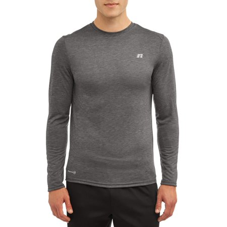 Russell Men's Active Performance Crew Neck Long Sleeve Shirt Active Long Sleeve Training Top