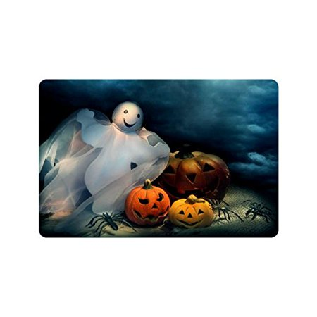 CADecor Fantasy Ghost Door Mat Home Decor, Halloween Pumpkin Indoor Outdoor Entrance Doormat 23.6x15.7 - Halloween Entrance