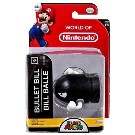 """World of Nintendo Bullet Bill 2.5"""" Figure, World of nintendo toys bullet bill. By Jakks Pacific"""