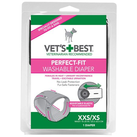 Vet's Best Washable Female Diaper - XXS/XS, Ideal for females in Heat By Vets