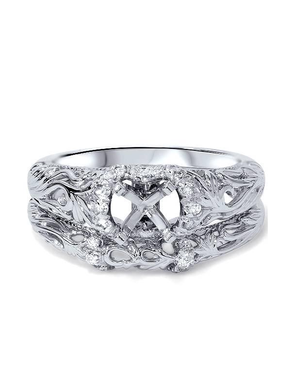 1 5ct Vintage Diamond Engagement Mount Set 950 Platinum by Pompeii3