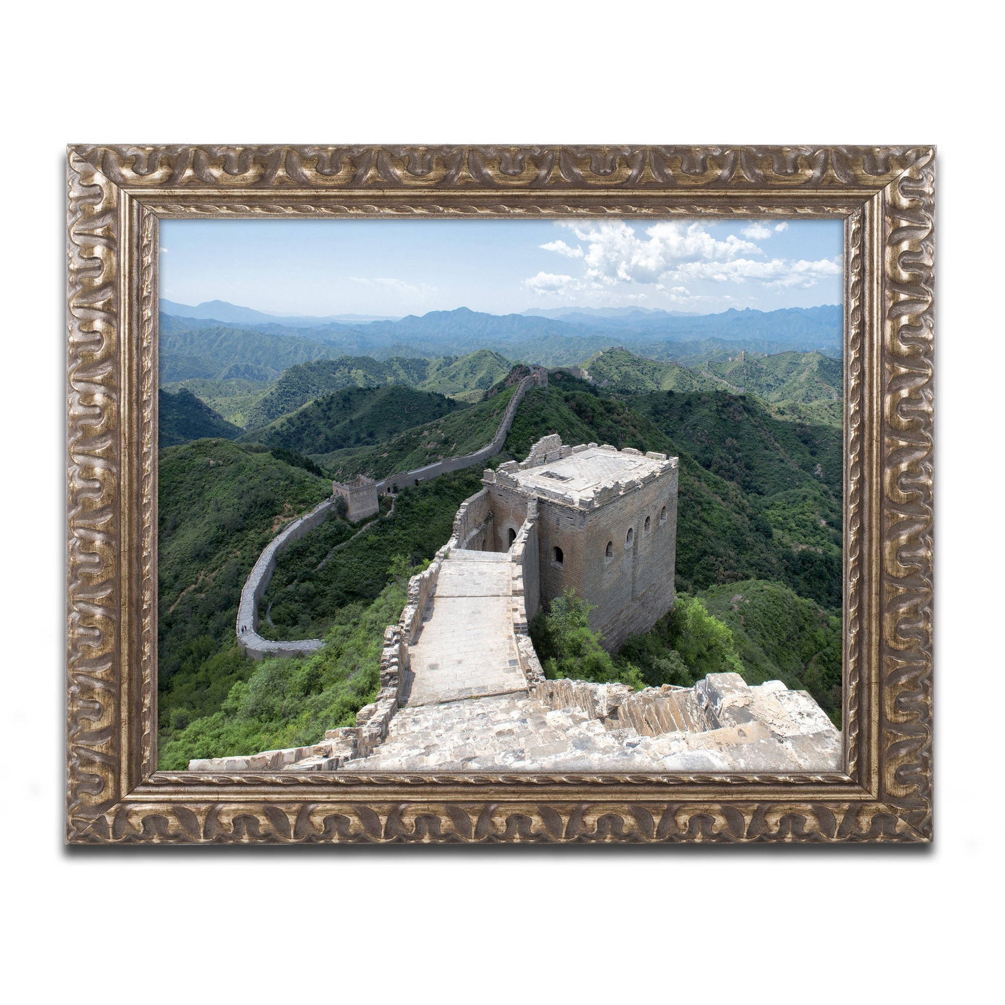 "Trademark Fine Art ""Great Wall XI"" Canvas Art by Philippe Hugonnard, Gold Ornate Frame"